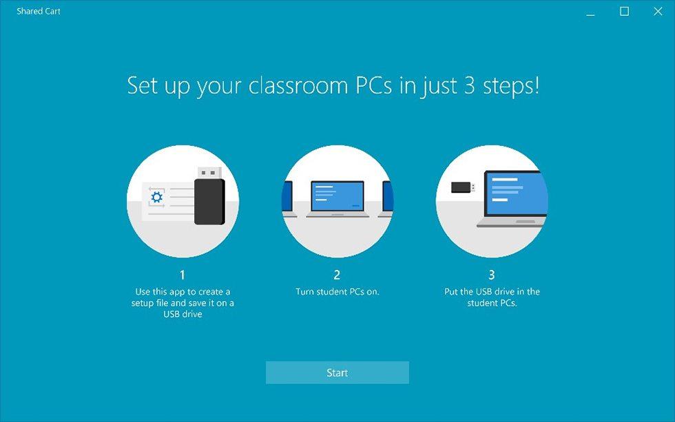 Set up school computers