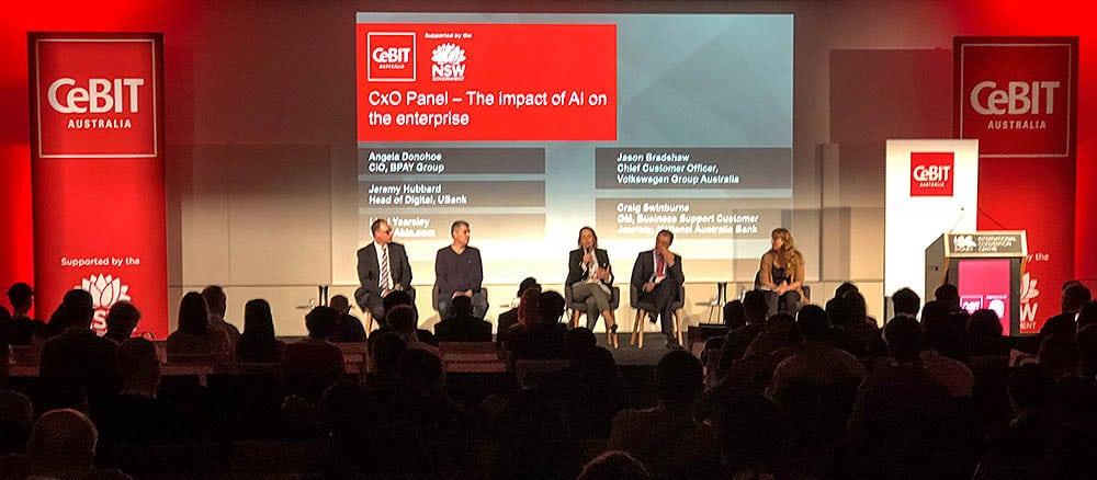 eStorm at CeBIT Australia 2018 AI conference panel
